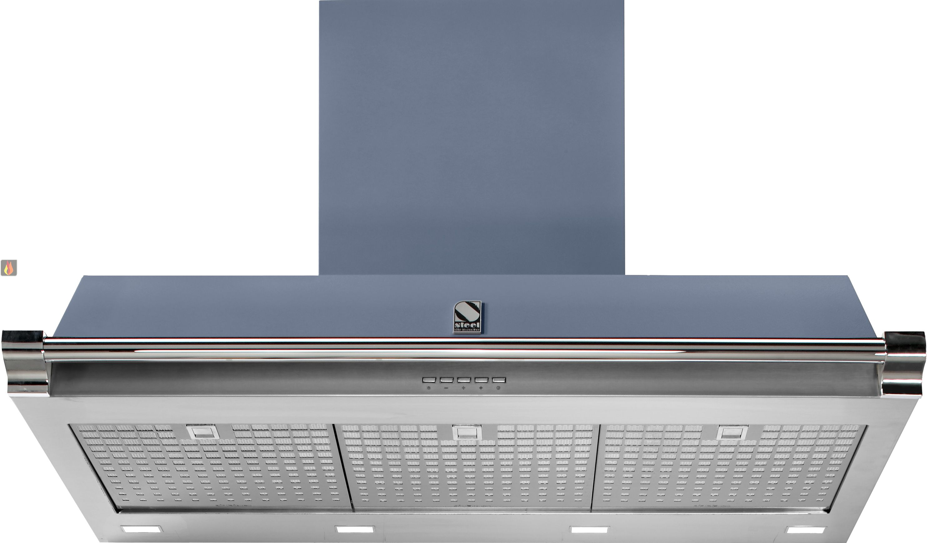 hotte d corative murale avec clairage halog ne ajustable en hauteur steel cucine ec ste406. Black Bedroom Furniture Sets. Home Design Ideas