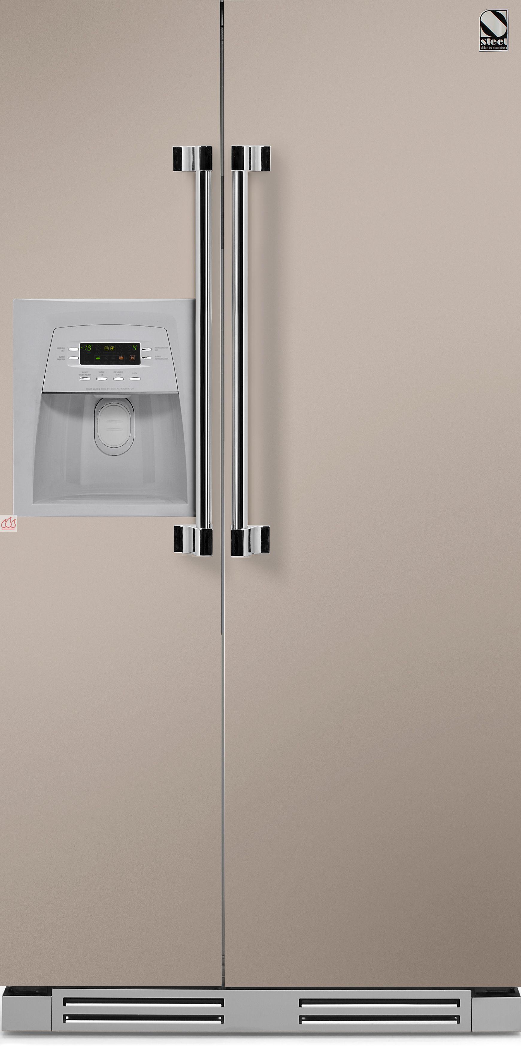 r frig rateur am ricain de 603l encastrable steel cucine ec ste1104 mon espace cuisson. Black Bedroom Furniture Sets. Home Design Ideas
