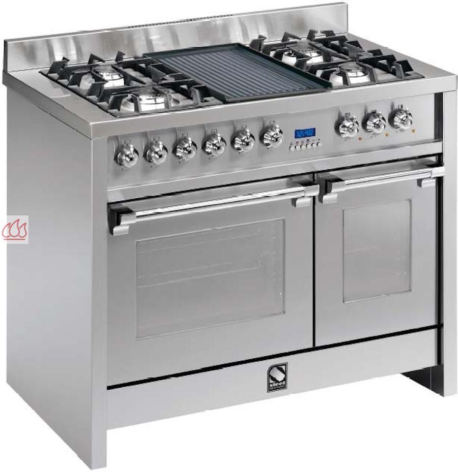 Piano de cuisson avec 2 fours table de cuisson personnalisable steel cucin - Piano de cuisson 2 fours ...