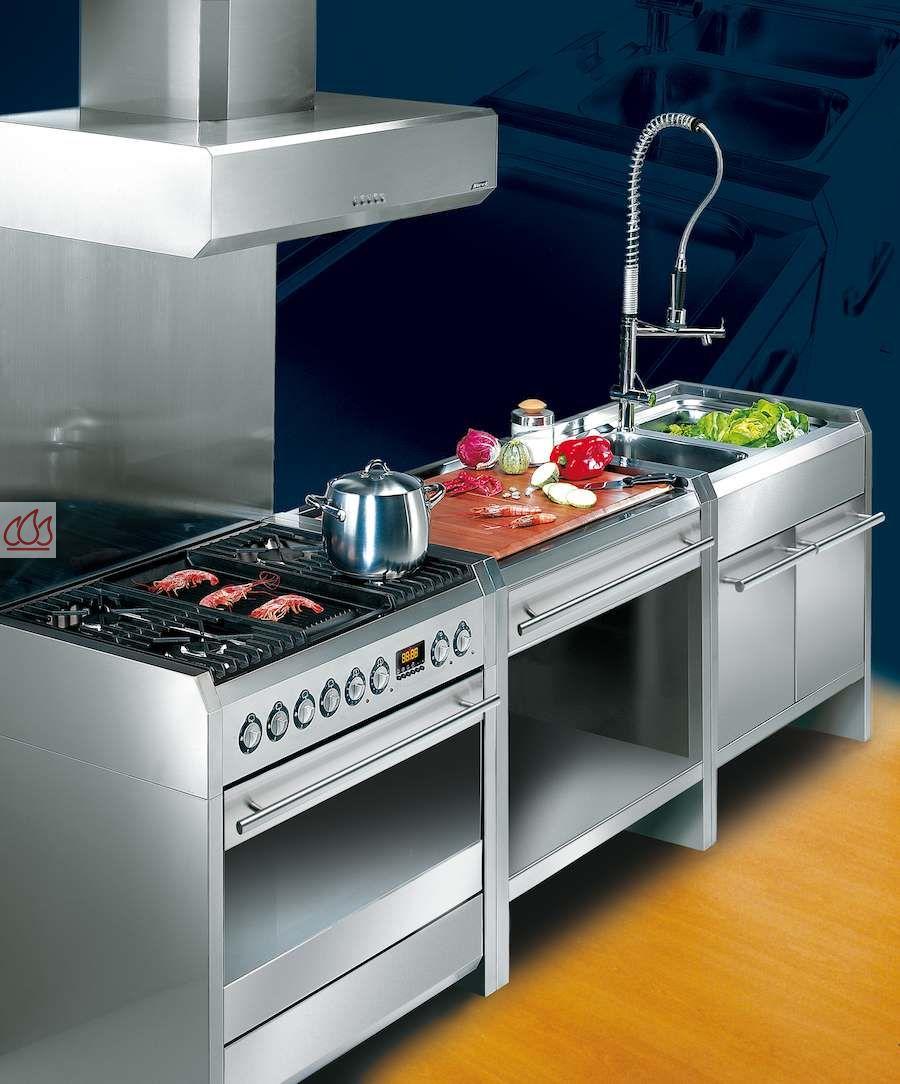 Module de cuisine plan de travail bois avec 3 tiroirs 90cm - Dimensions plan de travail cuisine ...