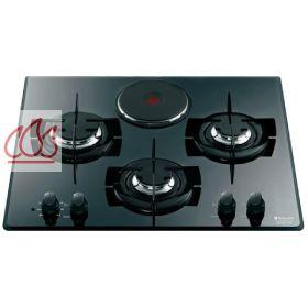 table de cuisson mixte gaz lectrique 60 cm encastrable 4 foyers hotpoint ec hot312 mon. Black Bedroom Furniture Sets. Home Design Ideas