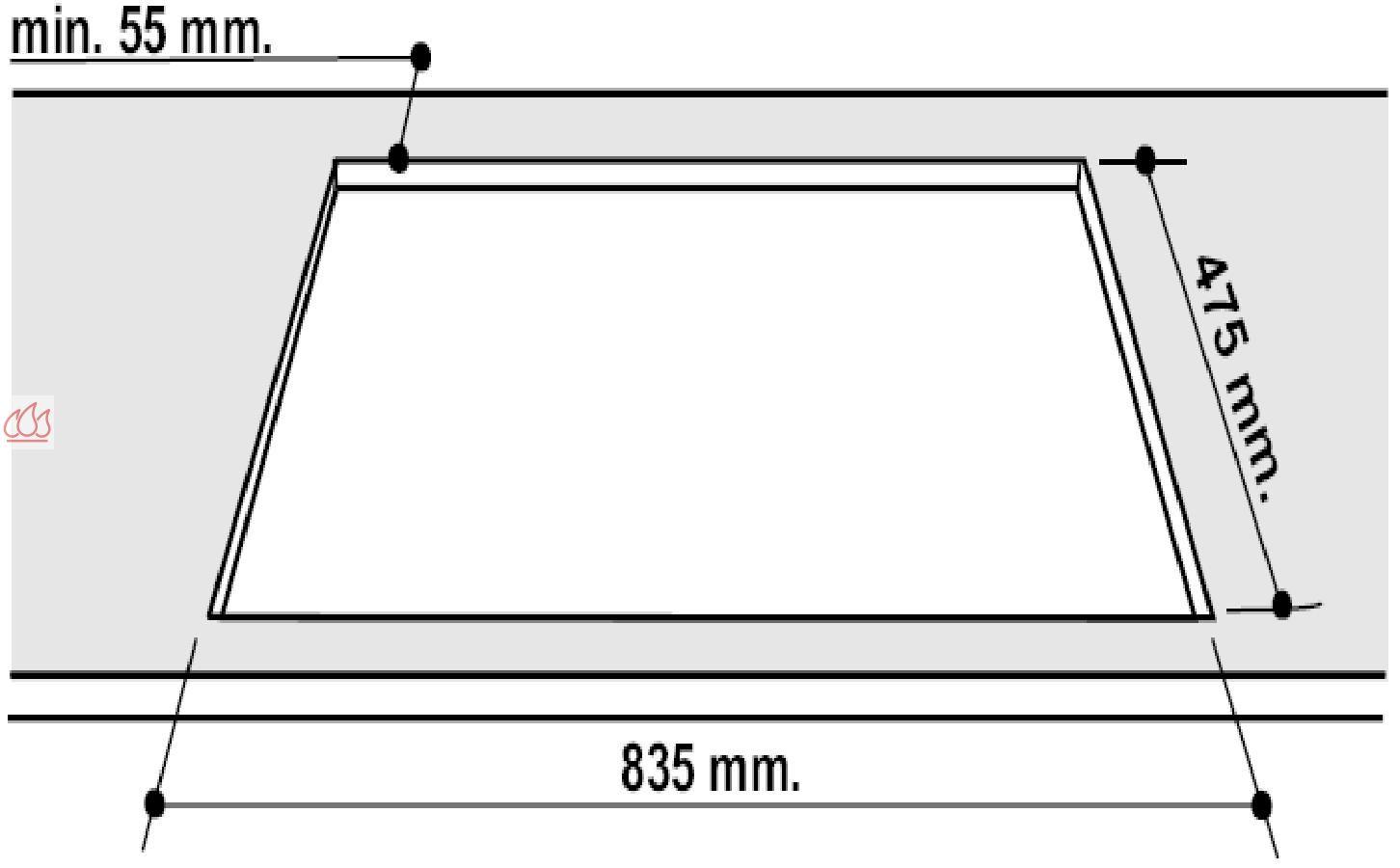 table de cuisson mixte gaz lectrique 90 cm encastrable 4 foyers et 1 gril hotpoint ec hot313. Black Bedroom Furniture Sets. Home Design Ideas