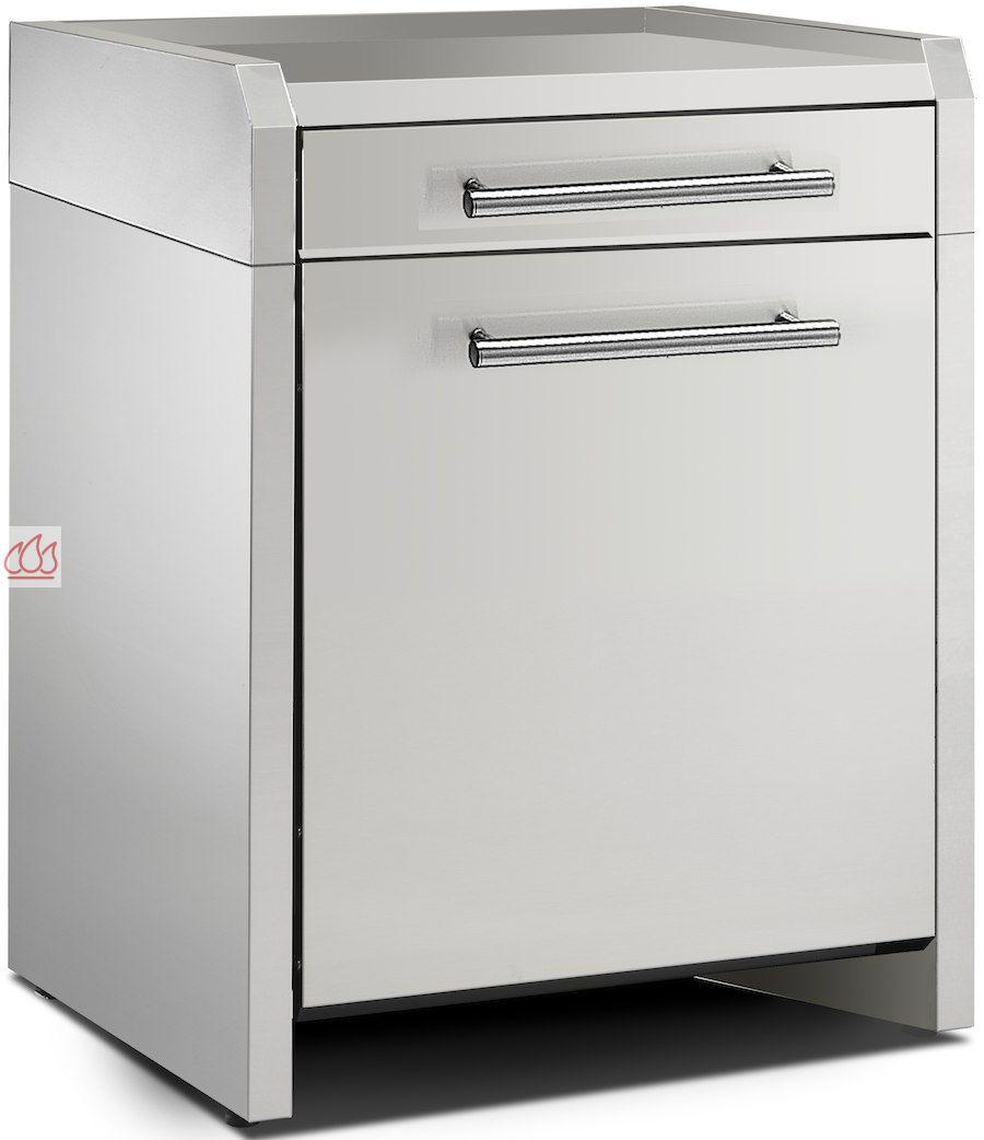 module de cuisine plan de travail avec 1 tiroir et 1 placard 70cm steel cucine ec ste1610 mon. Black Bedroom Furniture Sets. Home Design Ideas