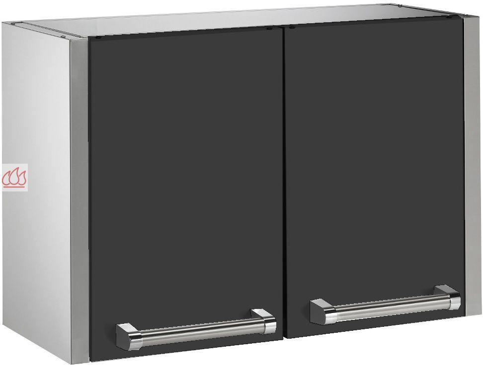 meuble de rangement mural haut 90cm steel cucine ec ste1618 mon espace cuisson. Black Bedroom Furniture Sets. Home Design Ideas