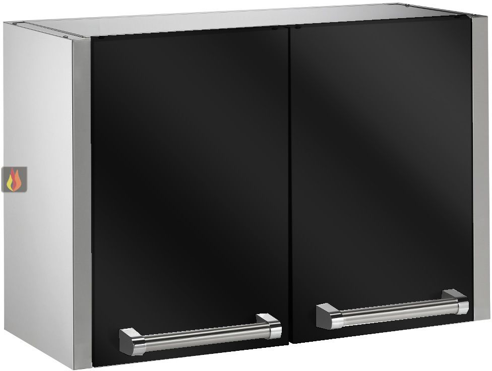 meuble de rangement mural haut 90cm steel cucine ec. Black Bedroom Furniture Sets. Home Design Ideas