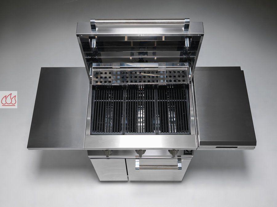 Barbecue 3 bruleurs gaz avec plan de travail en inox bruleur wok steel cuci - Bruleur gaz barbecue ...
