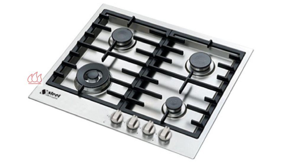 table de cuisson gaz 60 cm encastrable inox 4 foyers steel cucine ec ste300 mon espace cuisson. Black Bedroom Furniture Sets. Home Design Ideas