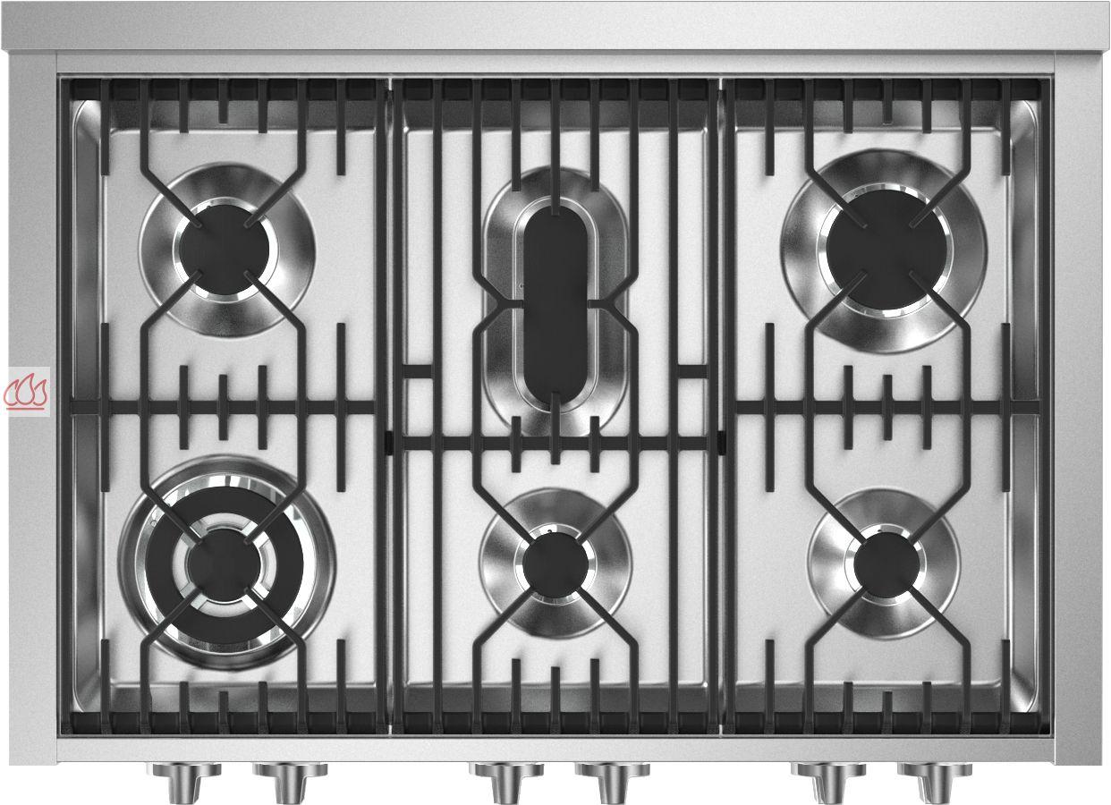 table de cuisson gaz 90 cm pose libre inox 6 foyers steel cucine ec ste307 mon espace cuisson. Black Bedroom Furniture Sets. Home Design Ideas