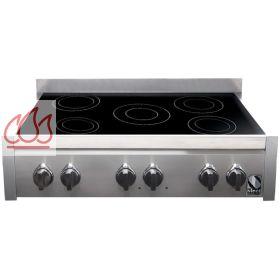 Table de cuisson induction 90 cm pose libre noire inox 5 - Table de cuisson induction 2 foyers a poser ...
