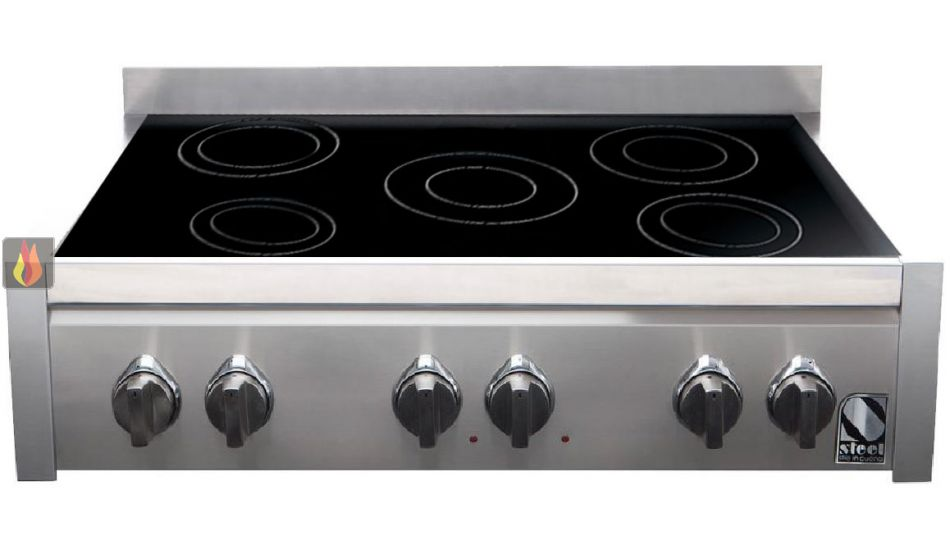 table de cuisson induction 90 cm pose libre noire inox 5 foyers steel cucine ec ste310 mon. Black Bedroom Furniture Sets. Home Design Ideas
