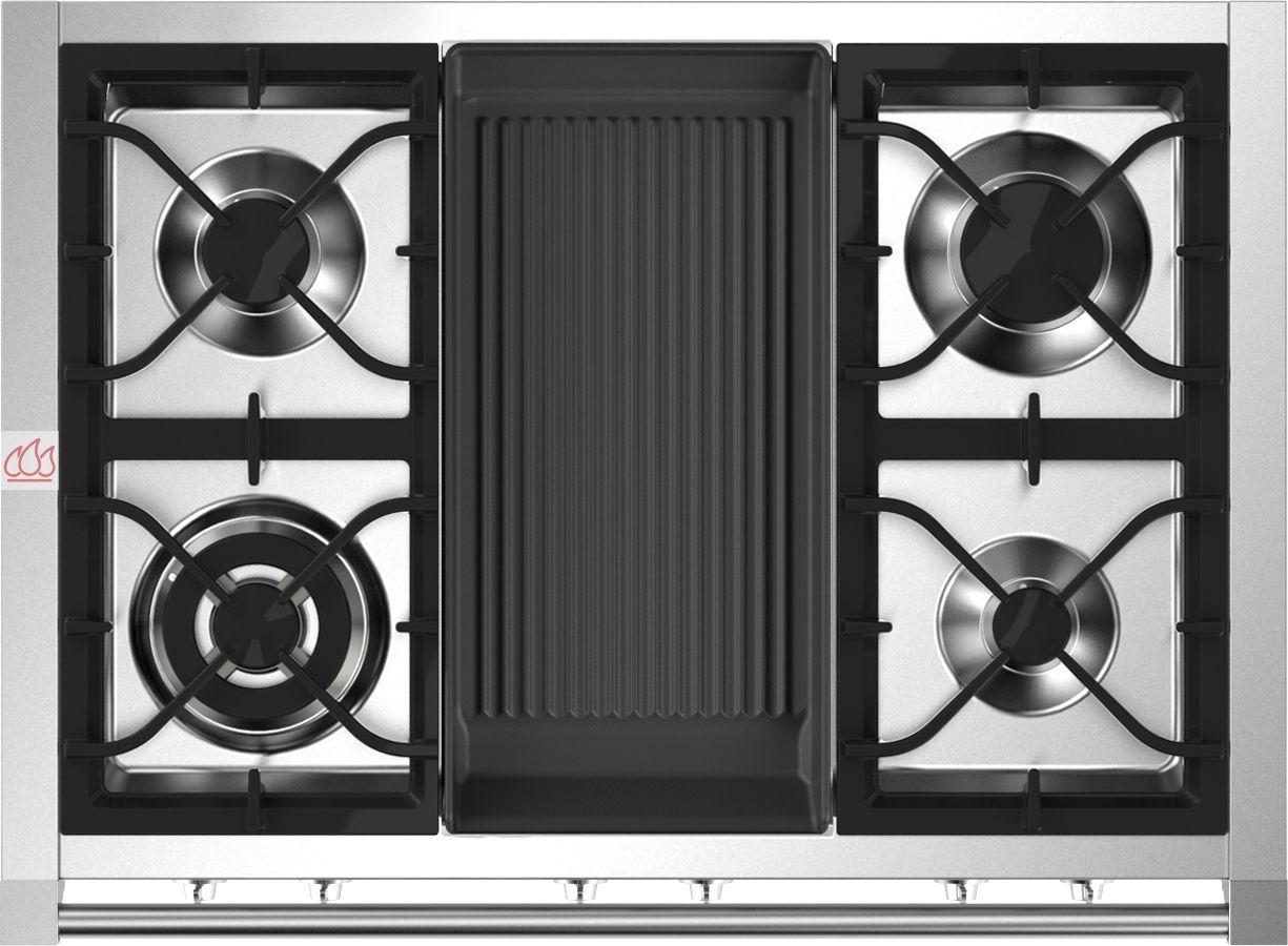table de cuisson mixte gaz vitroc ramique 90 cm pose libre 6 foyers dont 1 gril steel cucine ec. Black Bedroom Furniture Sets. Home Design Ideas