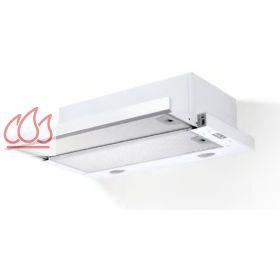 Hotte tiroir blanche encastrable dans un meuble haut for Hotte integree dans meuble haut