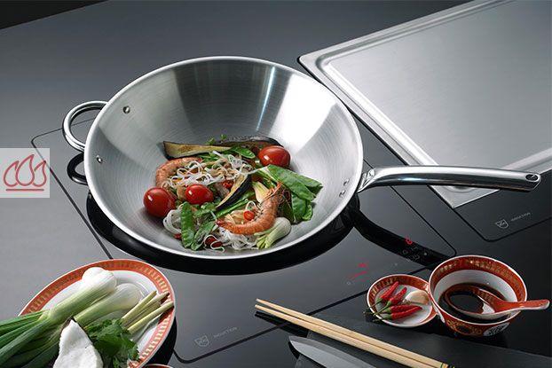 domino induction 38cm encastrable noir pour wok v zug ec. Black Bedroom Furniture Sets. Home Design Ideas