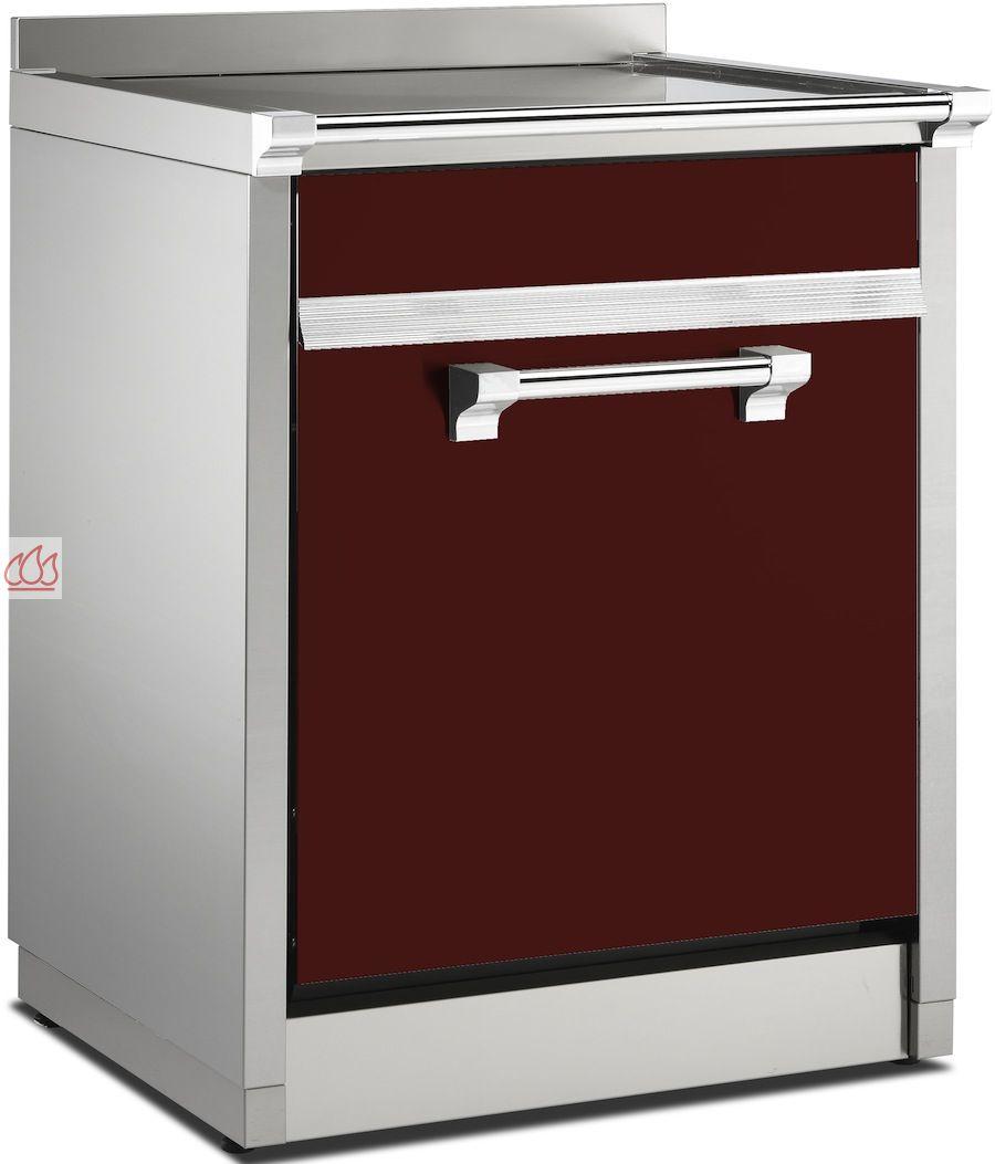 meuble avec plan de travail inox pour lave vaisselle int grable pose libre steel cucine ste1702