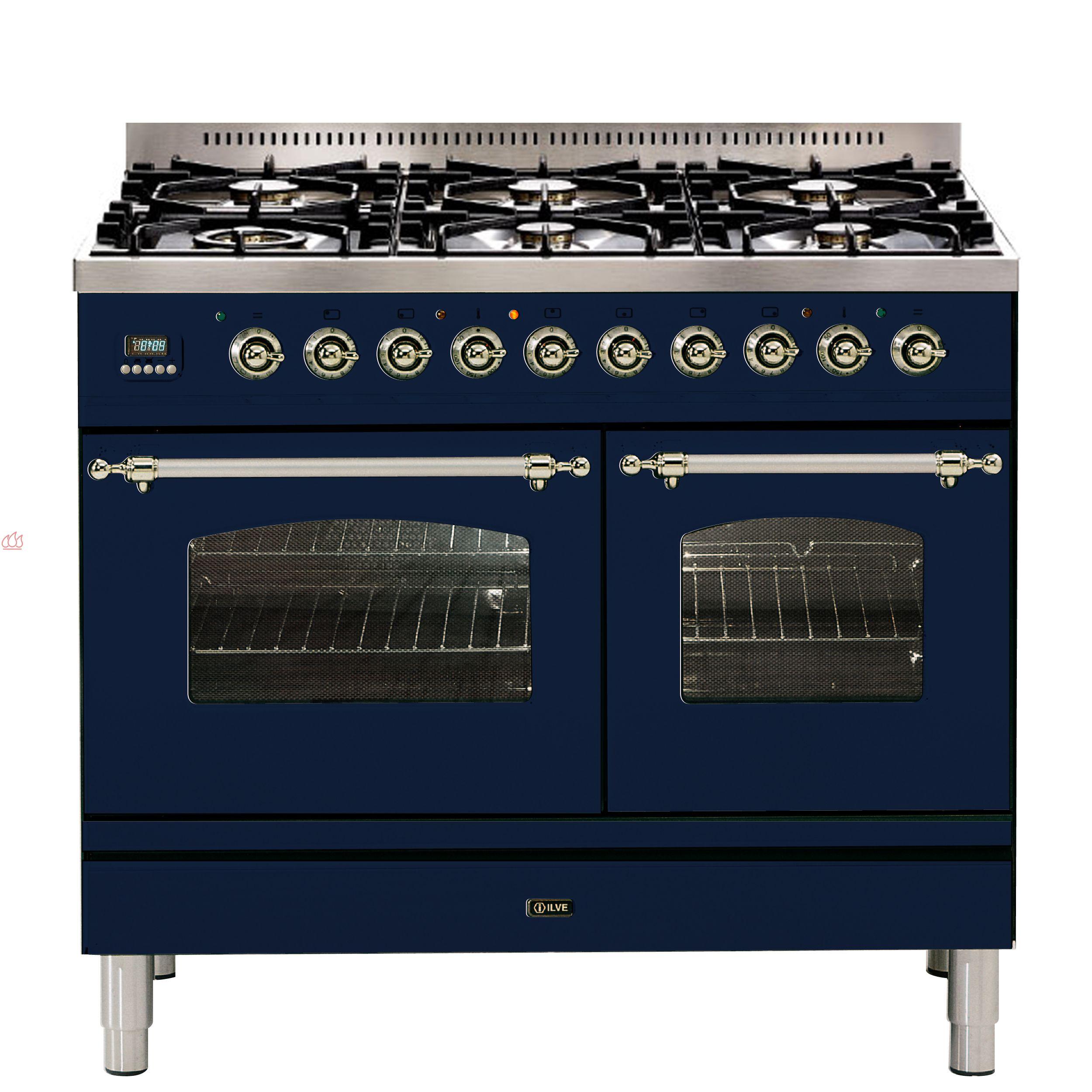 Piano de cuisson 100cm avec 2 fours table de cuisson personnalisable avec t - Piano de cuisson 3 fours ...