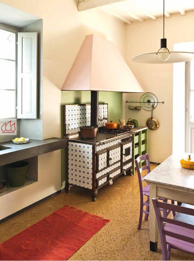 Piano de cuisson, bois, gaz etélectrique 140cm avec 2 fours et plaque de cuisson  # Piano De Cuisson Bois