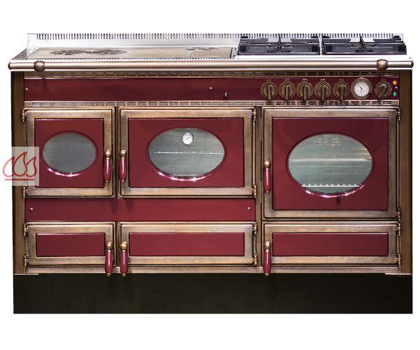 Piano de cuisson 140cm avec 1 four bois + 1 fourélectrique + table de cuisson personnalisable J  # Piano De Cuisson Bois